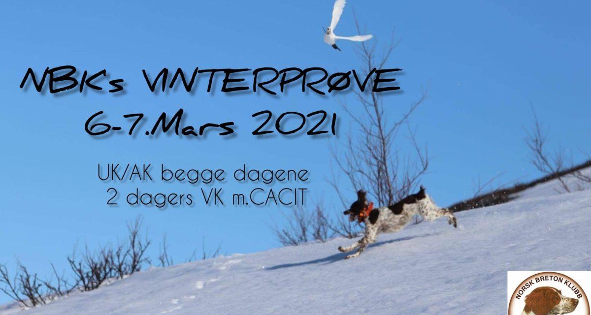NBK's Vinterprøve m/CACIT 6-7. Mars 2021