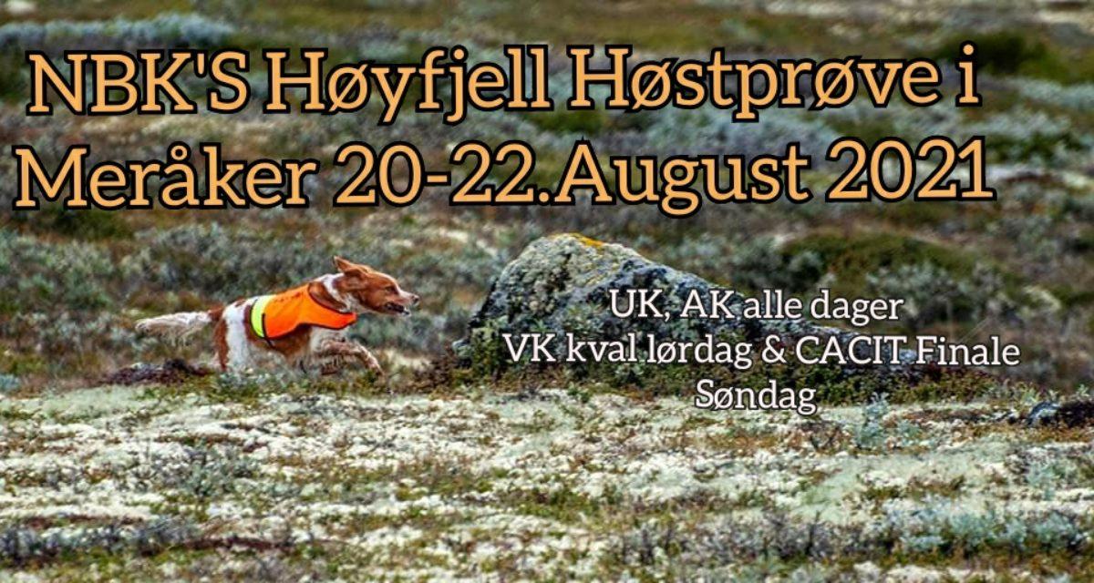 NBK's Høstprøve m/CACIT 20-22 august